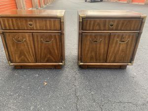 Mid Century Campaign Nightstands by Drexel for Sale in Burke, VA