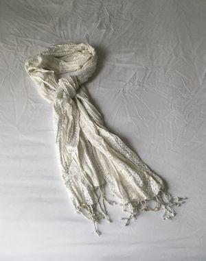 White, Silver And Gold Scarf for Sale in Pasco, WA