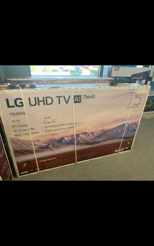75 LG smart 4k hdtv like new in box comes with 6 month warranty Ask us about our different $$$$$$$ options for Sale in Phoenix, AZ
