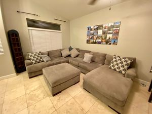 Sectional Couch with Ottoman and Pillows for Sale in Phoenix, AZ