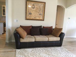 Leather /microfiber sofa for Sale in Melbourne Village, FL