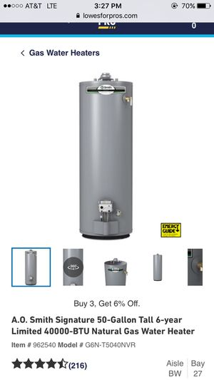 Brand new gas water heater for Sale in Mint Hill, NC