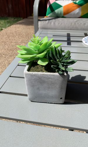 Artificial succulents with ceramic pot for Sale in Lewisville, TX