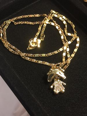 18k GPL Baby Girl Chain Necklace for Sale in Nashville, TN