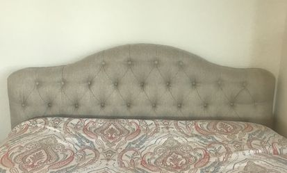 Queen Upholstered Panel Bed for Sale in McLean,  VA