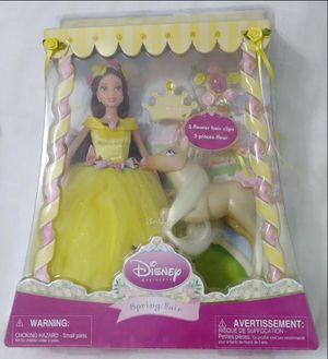 NEW Disney Store Exclusive Spring Fair Beauty Beast Princess BELLE Doll Pony Set Playset for Sale in Homestead, FL