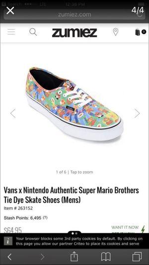 Vans Nintendo bundle size 10.5 for Sale in Phoenix, AZ