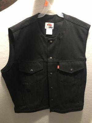 Brand new Black motorcycle vest 60 obo for Sale in Moreno Valley, CA