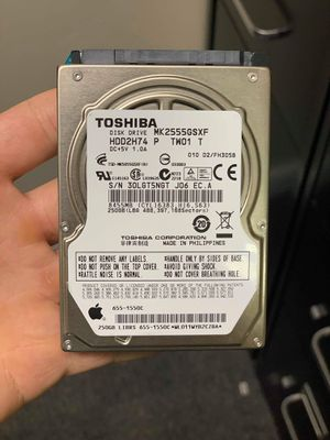 Toshiba Hard drive 2.5 like new 250gb storage for Sale in Orlando, FL