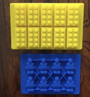 LEGO Brick and Minifigure Silicone Candy Chocolate Mold set for Sale in Riverside, CA