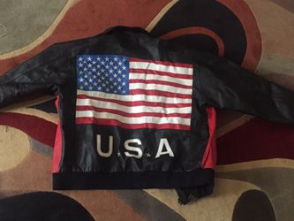 USA/FLAG Leather Jacket for Sale in Waco,  TX
