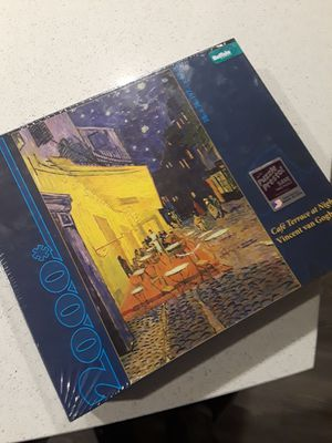 Vincent Van Gogh Cafe Terrace At Night 2000 Piece Jigsaw Puzzle by Buffalo Games for Sale in Las Vegas, NV
