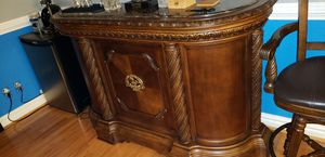 Ashley Northshore Bar and 3 Barstools for Sale in Norfolk, VA