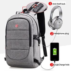 Backpack with anti theft and usb Charger grey for Sale in Queens, NY