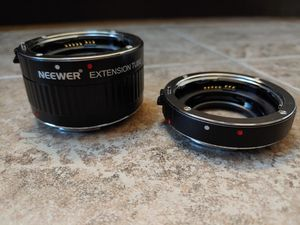 Neewer Macro Extension Tubes- 12 & 25mm for Sale in Federal Way, WA