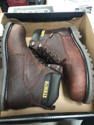 DEWALT Men's Axle Waterproof 6'' Work Boots - Soft Toe - Walnut Pitstop Size 9.5(W) for Sale in Temple City, CA