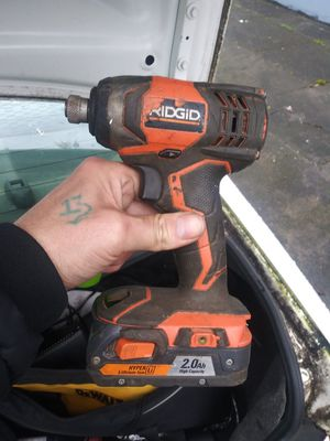Ridgid R86010B 1/2 In. Compact Impact Wrench W/18v battery for Sale in Portland, OR