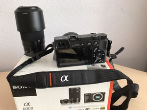 Sony - Alpha a6000 Mirrorless Camera Two Lens Kit with 16-50mm and 55-210mm Lenses - Black for Sale in Aurora, CO