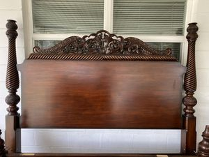 Tommy Bahama KING bed frame and headboard for Sale in Lakeland, FL