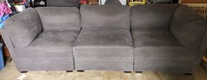 Charcoal Gray SECTIONAL SOFA 6 Piece includes Ottoman with CoffeeTable & 2 End Tables for Sale in Damascus, OR