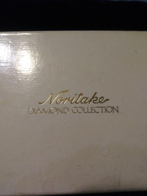 Noritake diamond collection cups.