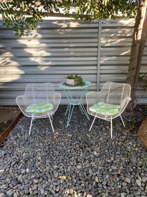 ⚐ Russell Woodard Sculptura mid century patio chairs metal mesh mcm vintage - $700 for Sale in Los Angeles, CA