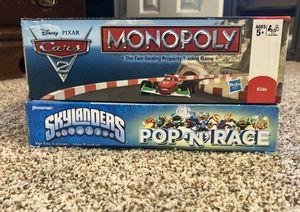Monopoly Cars & Pop 'N' Race Skylanders for Sale in Yardley, PA