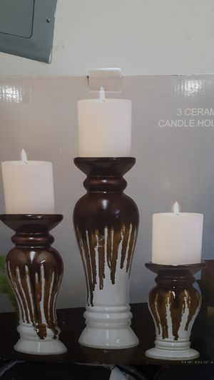 Ceramic candle holders. 3 pieces for Sale in Vancouver, WA