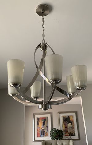 Brushed nickel multi-light ceiling lamp. Perfect condition! for Sale in Tamarac, FL