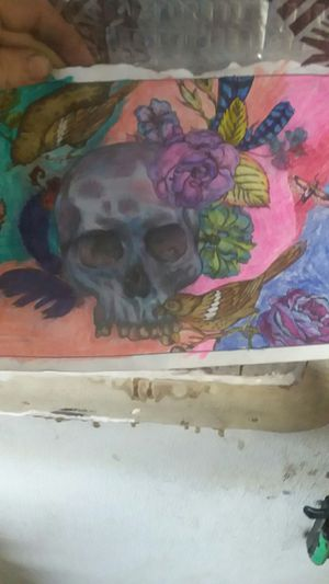 Skull and sparrows coloring for Sale in Midland, TX