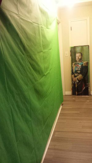 New pro green screen. Huge size: 157 inches x 228 inches for videos, photography, photoshop for Sale in Hartford, CT