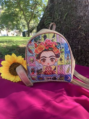 Frida mini backpack made in Mexico #loteria#small#Beautiful🌻💛# for Sale in Long Beach, CA
