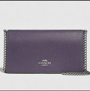 Authentic Coach Purple Crossbody Belt Bag for Sale in East Norriton, PA