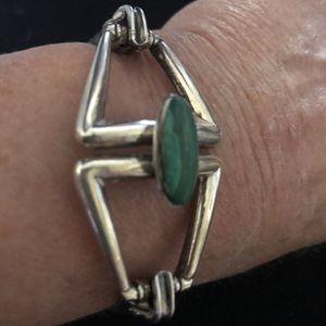 Silver & Malachite Bracelet for Sale in Oceanside, CA