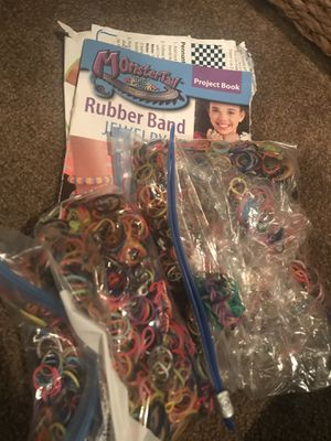 Rainbow loom books and thousands of bands for Sale in Lenexa, KS
