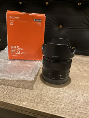 Sony 35mm F1.8 OSS Lens E-mount APS-C for Sale in Laurel, MD