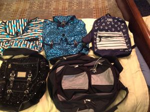 Just in time for school...Justice, Nikki, Vanns, Backpack Purse $10 ea - Juicy Couture Back Pack $15 for Sale in Tampa, FL