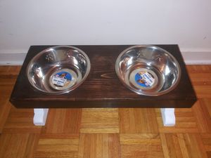 Dog bowl stand for Sale in Bridgeport, CT