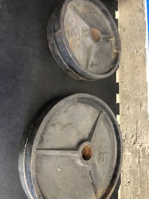 Olympic weights 45s 35s for Sale in South San Francisco, CA