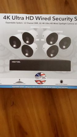 Night Owl 4k Ultra HD SECURITY SYSTEM (6 Cams) for Sale in Fort Myers,  FL