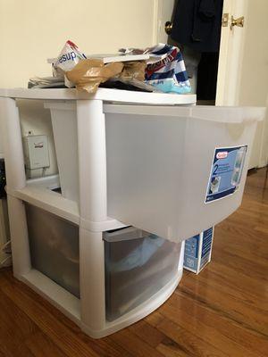 2 drawers plastic storage bin for Sale in Parsippany, NJ