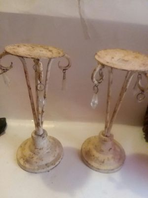 SHABBY STEEL JEWEL DROP CANDLE HOLDERS for Sale in Wilmington, DE