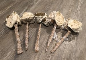 Wedding Burlap Flowers -15 in Set! for Sale in Annandale, VA