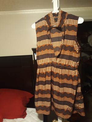 Brown and white heart dress for Sale in West Valley City, UT