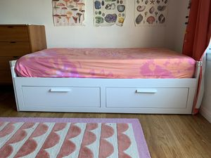 Twin Bed (convertible daybed) Frame - IKEA Brimnes for Sale in Oakland, CA