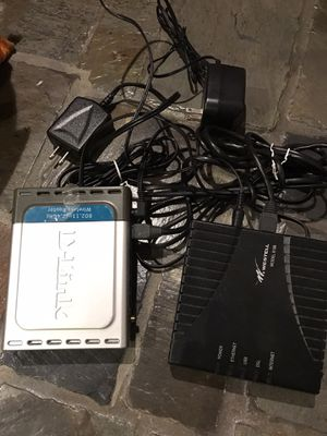 D link wireless router DI54 and Westrell 6100 dsl C90-610030-06 for Sale in Vista, CA
