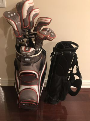 Adams women's 13 piece golf club set with bag and travel bag w stand for Sale in West Los Angeles, CA