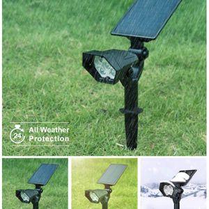 Solar Spot Lights Outdoor - Adjustable Wireless Waterproof Solar Powered Landscape Spotlights 2-in-1 Outdoor Solar Lights for Yard Garden Driveway Por for Sale in Hialeah, FL