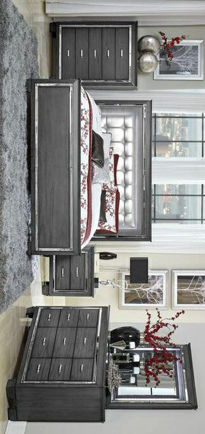 🔹Allura Gray LED Panel Bedroom Set for Sale in Silver Spring, MD