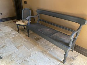 Vintage Bench and chair set for Sale in Auburndale, FL